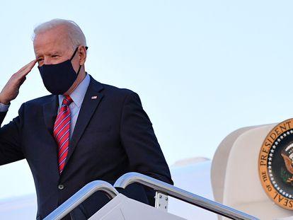 O presidente dos EUA, Joe Biden, antes de embarcar para Delaware nesta sexta-feira.