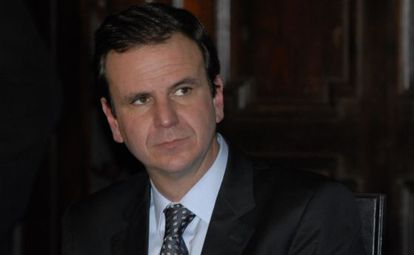 O prefeito Eduardo Paes.