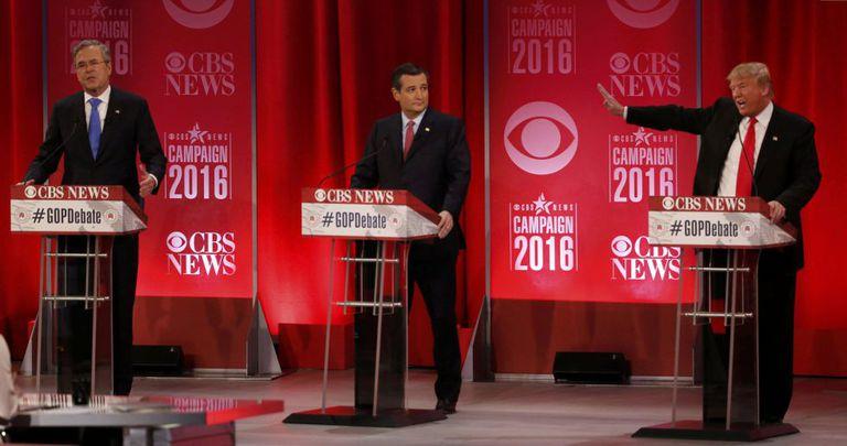 Bush, Cruz e Trump trocaram acusações durante o debate.