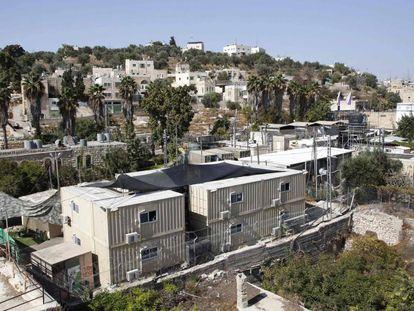 Base militar israelense em Hebron, onde 31 novos assentamentos vão ser construídos.