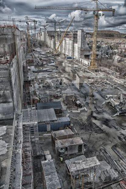 Obras de ampliação do Canal do Panamá, realizadas pelo consórcio GUPC.