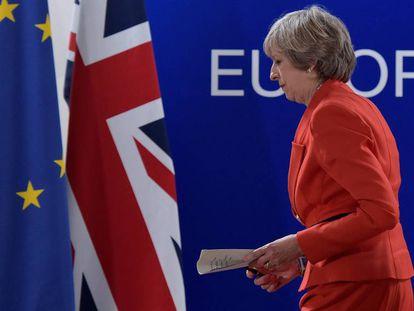 A premiê britânica, Theresa May.
