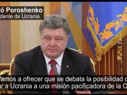 Petró Poroshenko, nesta quinta-feira.