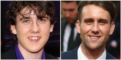 Matthew Lewis na época de 'Harry Potter' e na atualidade.