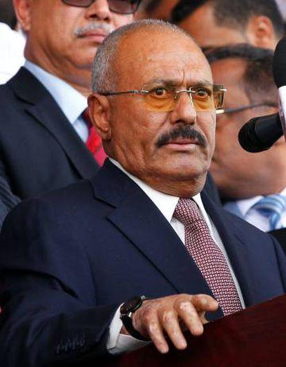 O ex-presidente Saleh durante evento de seu partido no dia 24 de agosto em Saná.