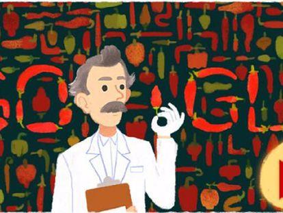 Google dedica um Doodle a Wilbur L. Scoville.