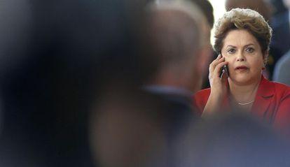 Dilma Rousseff no ultimo dia 17 no Palácio de Itamaraty.