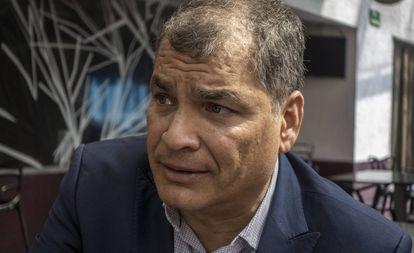 Rafael Correa, durante uma entrevista ao EL PAÍS em 2019.
