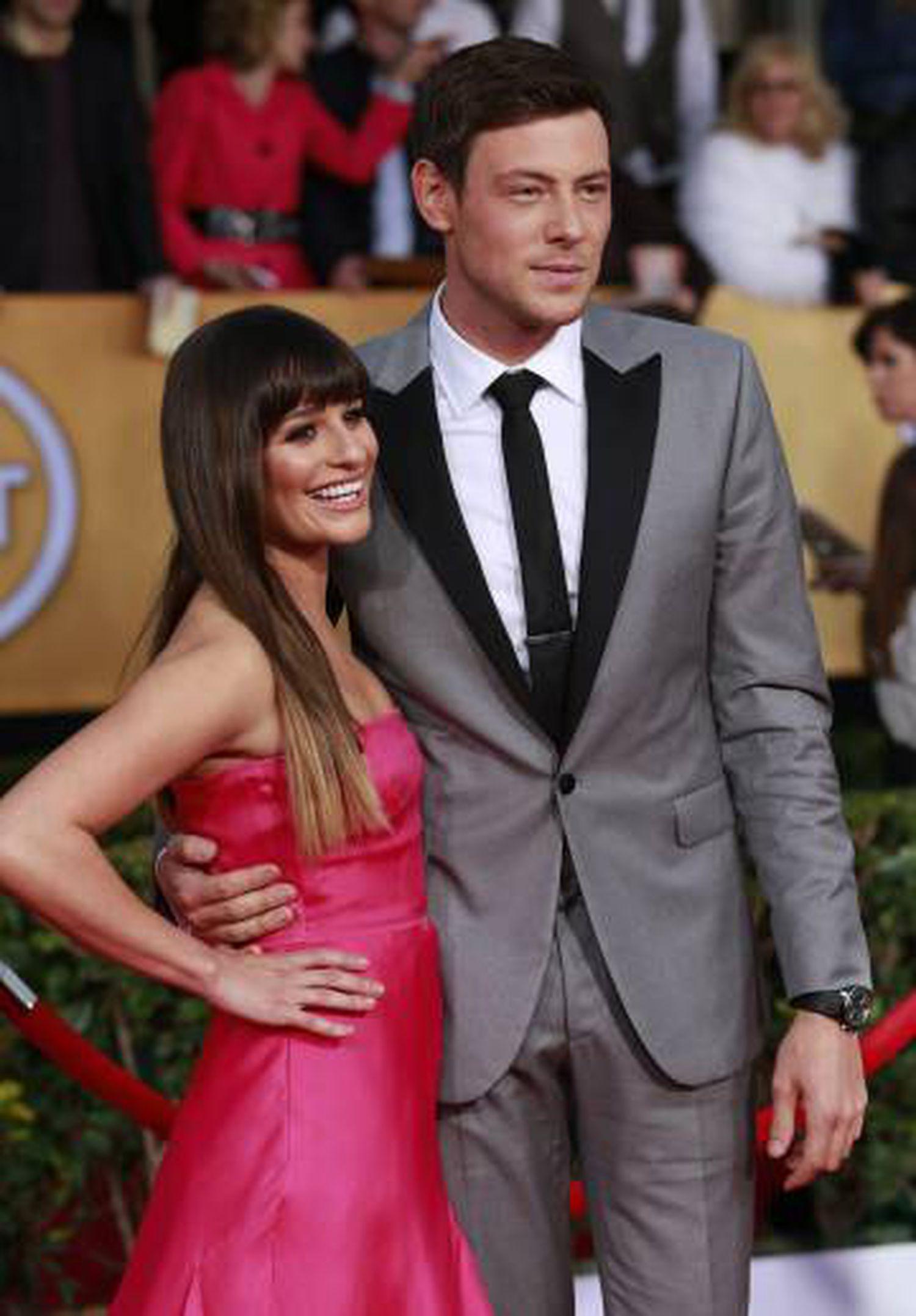 Lea Michele e Cory Monteith em 2013.