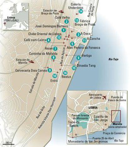 Mapa de Marvila, em Lisboa.