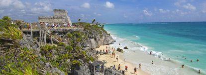 Ruínas mayas de Tulum, no Estado mexicano de Quintana Roo.