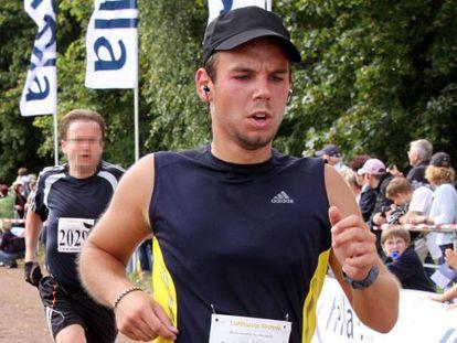 Andreas Lubitz, correndo uma maratona em setembro de 2009.