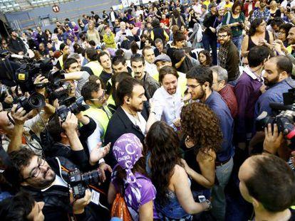 Congresso do Podemos em Vistalegre, Madri.