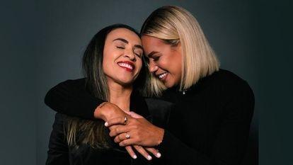 Marta Vieira com Toni Pressle em fotografia publicada no Instagram.