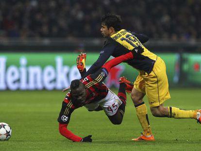 Costa choca com Balotelli.