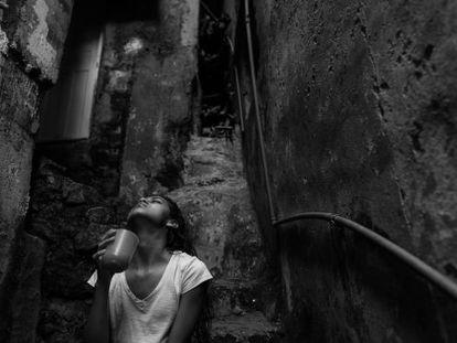 Uma moradora da Rocinha com tuberculose.