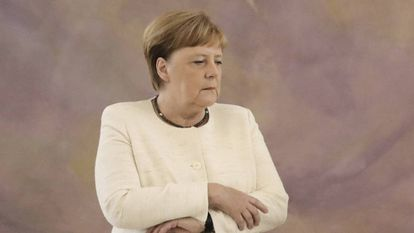 A chanceler alemã, Angela Merkel, nesta quinta-feira em Berlim.