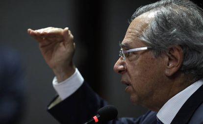 Ministro da Economia, Paulo Guedes, em evento no Rio de Janeiro.