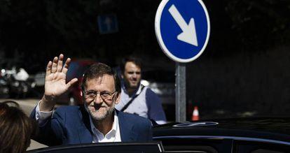 O líder do PP, Mariano Rajoy, neste domingo.