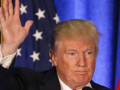 O candidato republicano Donald Trump na segunda-feira em um discurso em Ohio