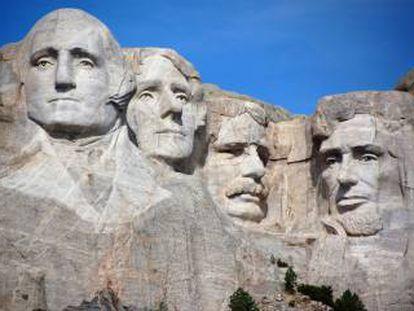 Imagem do Monte Rushmore.