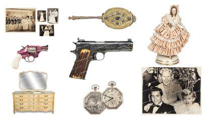 Alguns dos objetos de Al Capone que foram leiloados pela casa Witherells, em Sacramento.