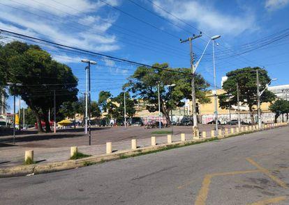 Praça da Gentilândia um dos locais da chacina de março de 2018, que ganhou fama na cidade.