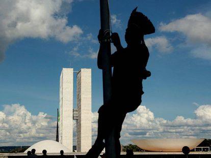 Indígenas em protesto em Brasília no final do mês passado.