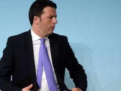 O primeiro-ministro italiano, Matteo Renzi, em Roma na terça-feira passada.