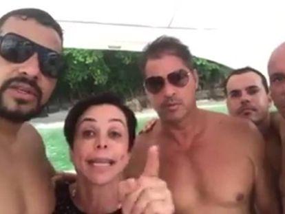 A deputada Cristiane Brasil se defende em vídeo gravado em lancha.