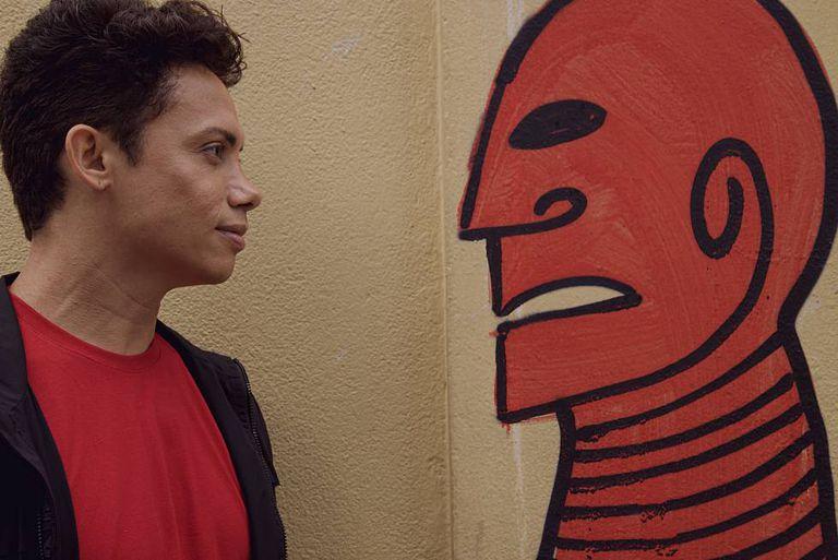 Ator cearense Silvero Pereira, que interpreta Lunga, em 'Bacurau'.