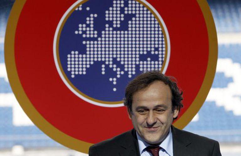Michel Platini, durante um ato da UEFA