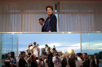 Dilma Rousseff em Brasília na quarta-feira.