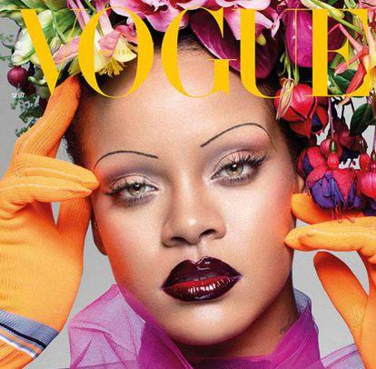 Rihanna resgata as sobrancelhas finas que triunfaram nos anos 20 e 90.