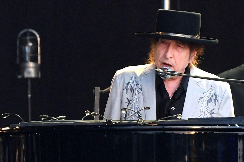 Bob Dylan em uma apresentação no Hyde Park, Londres, em 12 de julho de 2019.