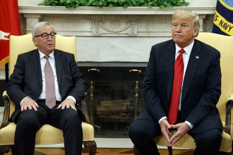 Juncker e Trump, nesta quarta-feira no Salão Oval.