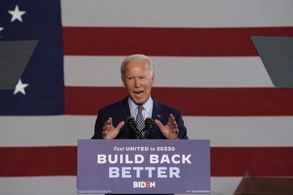 Joe Biden, durante seu discurso sobre economia na Pensilvânia, nesta quinta-feira.