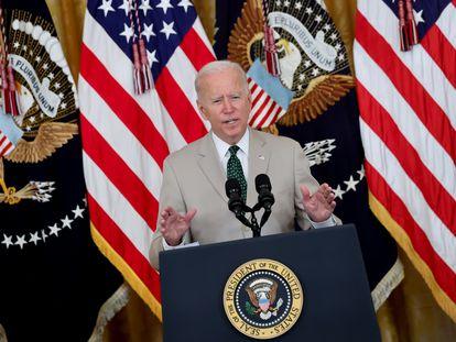 O presidente Joe Biden no dia 6 de agosto, na Casa Branca.