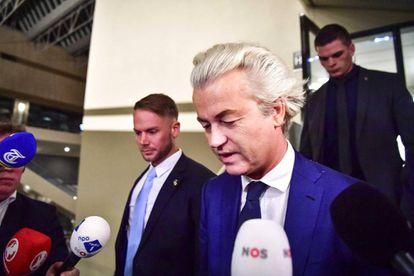 Geert Wilders, ao comentar a derrota nas urnas.