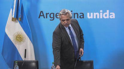 O presidente da Argentina, Alberto Fernández.