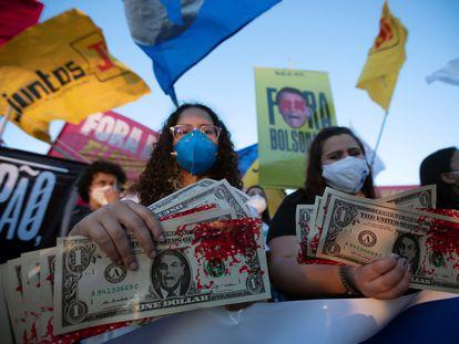 Protestos contra o presidente Jair Bolsonaro dia 30 de junho,em Brasília.