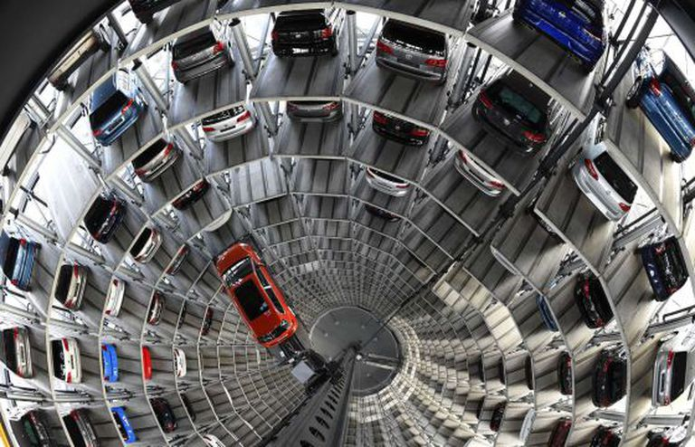 Fábrica de montagem do modelo Golf da Volkswagen na Alemanha.