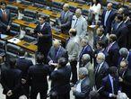 Jair Bolsonaro fala em sessão para votar o pedido de cassação do mandato do deputado André Vargas, em dezembro de 2014.