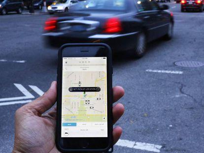 App do Uber.