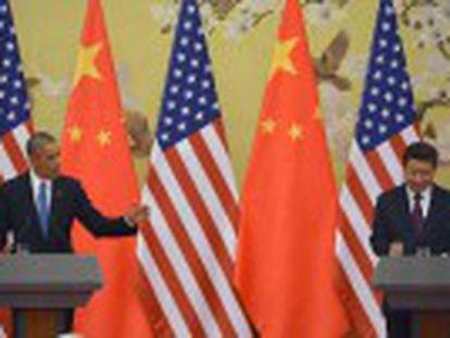 """Pacto """"histórico"""", firmado durante a cúpula da Apec, determina que Pequim deve alcançar o seu máximo de emissões em 2030"""