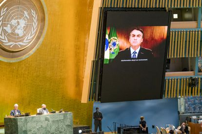 O presidente Jair Bolsonaro discursa nesta terça-feira na 75ª Assembleia Geral da ONU.