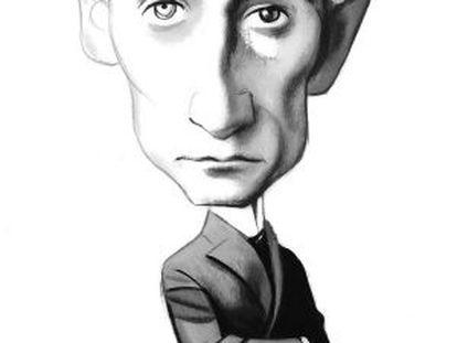 Franz Kafka, no traço de Fernando Vicente.