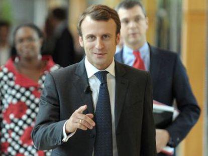 O ministro da Economia da França, Emmanuel Macron.