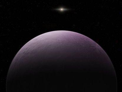 Reconstrução do planeta anão 2018 VG18.