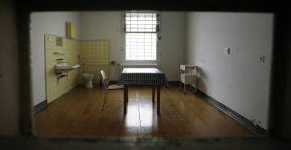 uma cela da Stasi alemã.